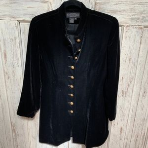 Beautiful black J. PetermanCompany velvet jacket